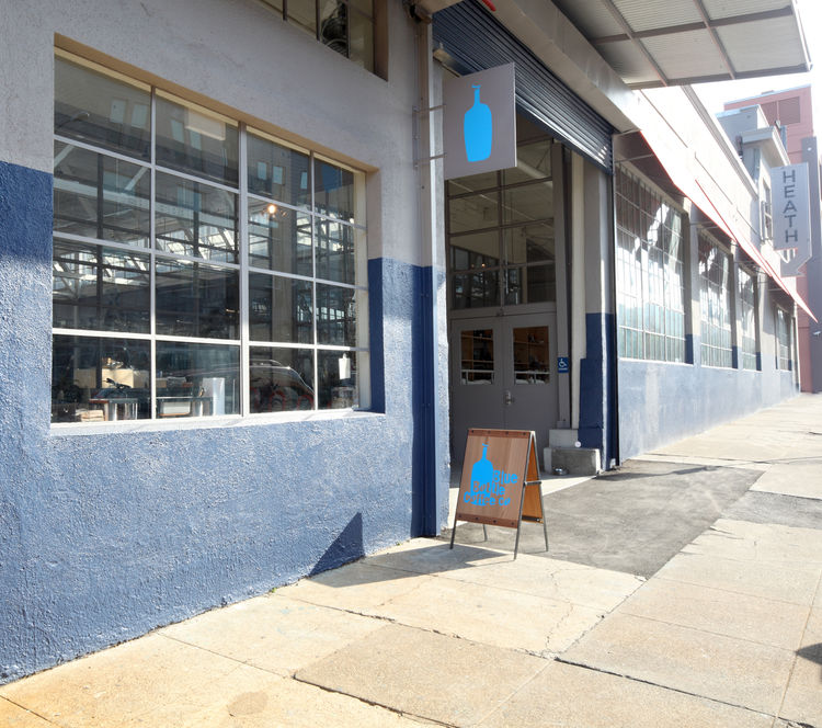 Blue Bottle Coffee storefront in San Francisco, California