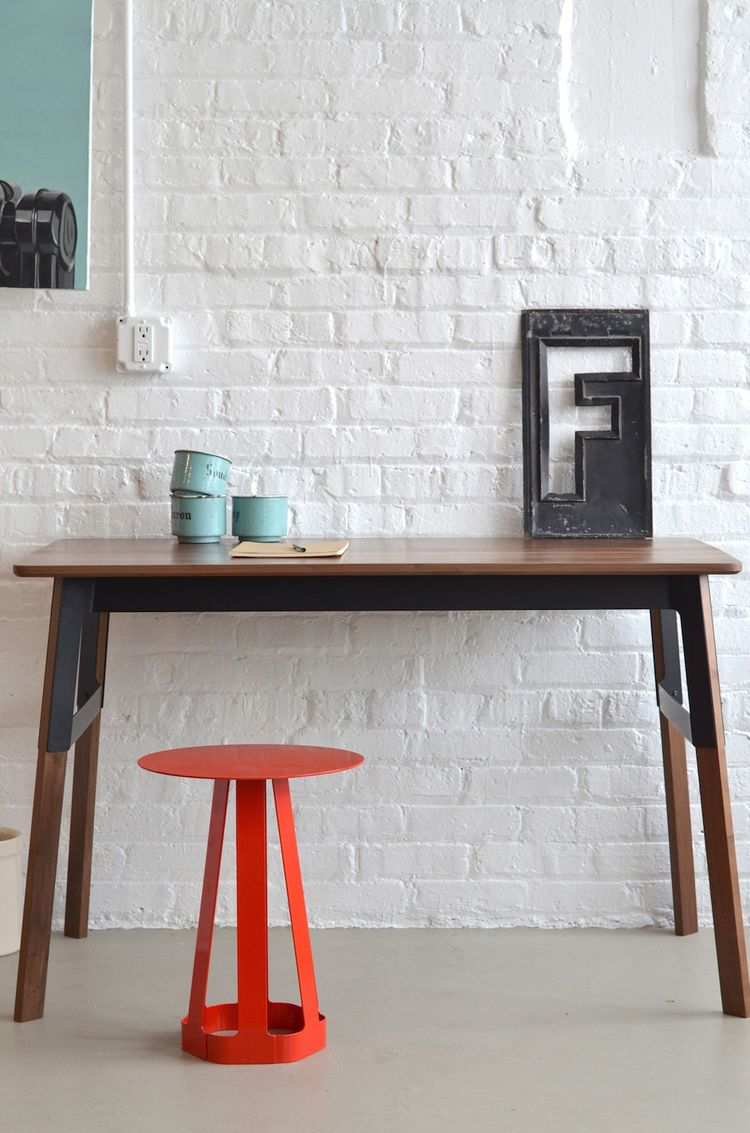 Grain desk and Sixagon stool by Misewell