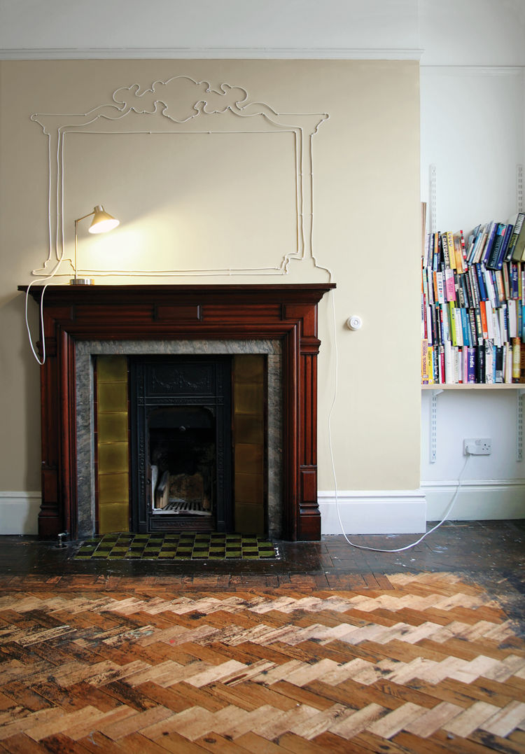 DIY electrical wall cord art by Maisie Broadhead