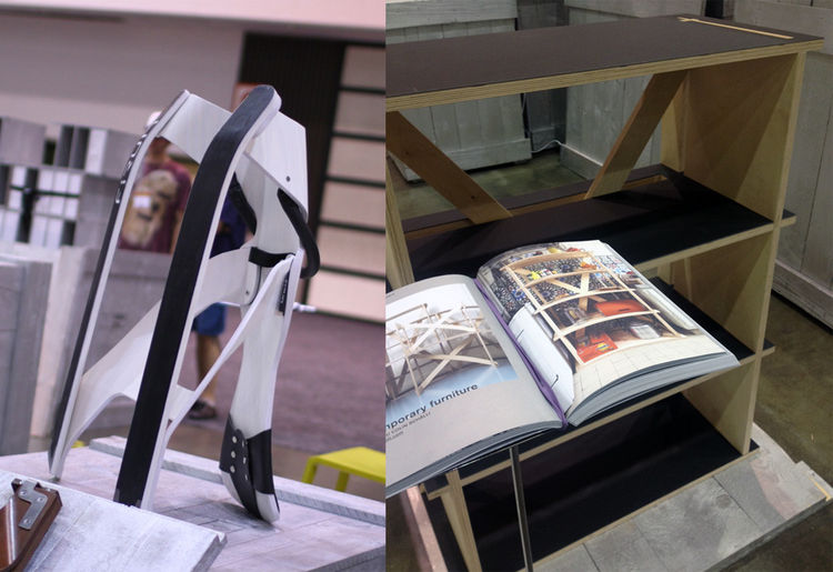 Sled bookshelf at Dwell on Design 2012