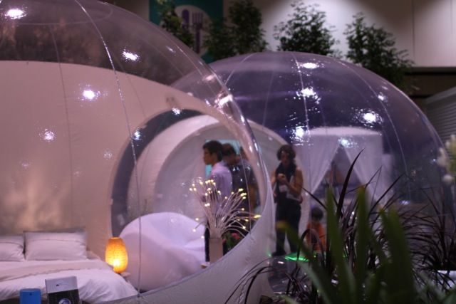 Outdoor bubble at Dwell on Design 2012