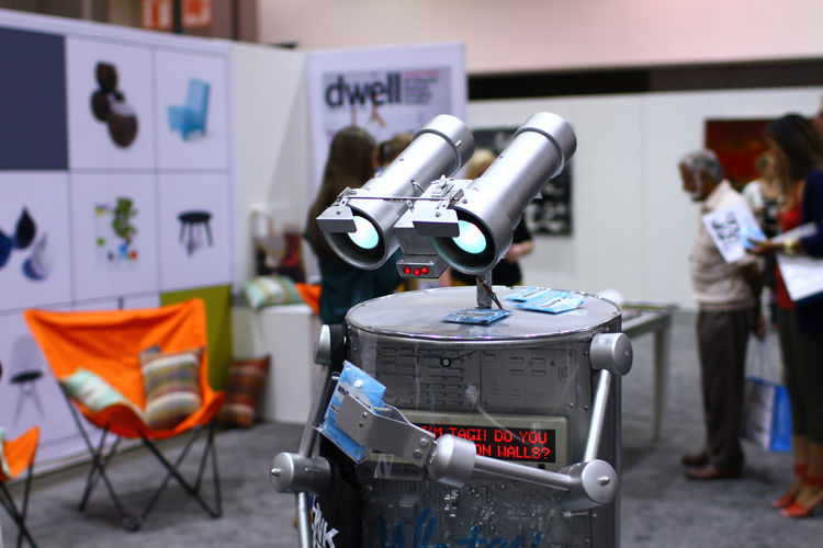 Robot at Dwell on Design 2012