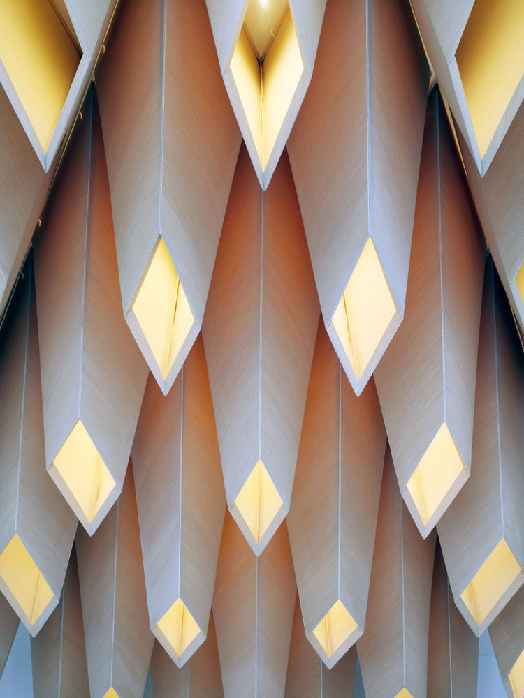 Ceiling detail of One Kearny lobby by San Francisco firm IwamotoScott Architecture