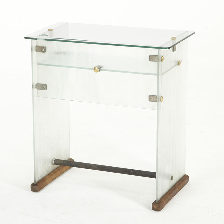 Glass desk by Gio Ponti