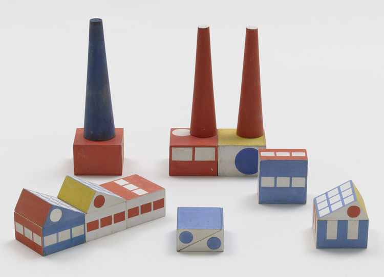 Prototype for Build the Town building blocks by Ladislav Sutnar