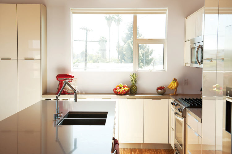 Modern kitchen with Karbon faucet from Kohler