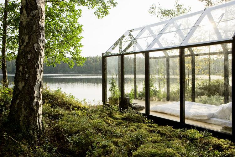 prefabricated glass greenhouse in Finland