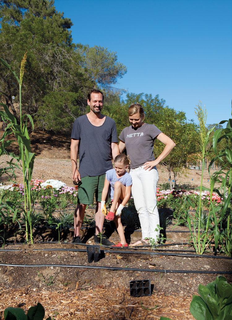 Gabbert/Avery family, family flower farm, Los Angeles