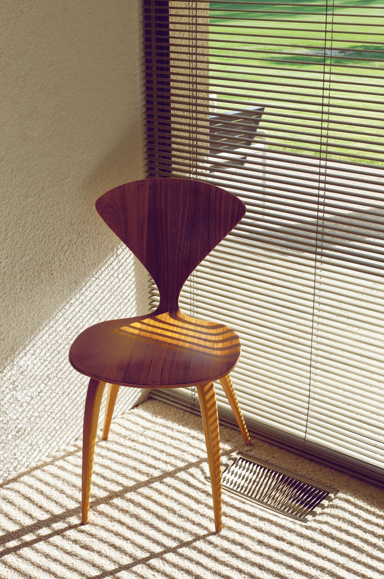 Wooden side chair by Norman Cherner