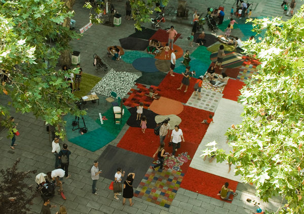 Rug market in Barcelona