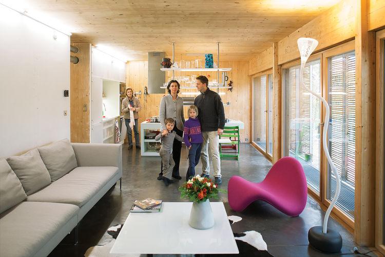 Modern living room with Genvex ventilation system