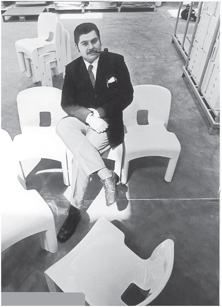 mid-century designer Joe Colombo Kartell chair reissue