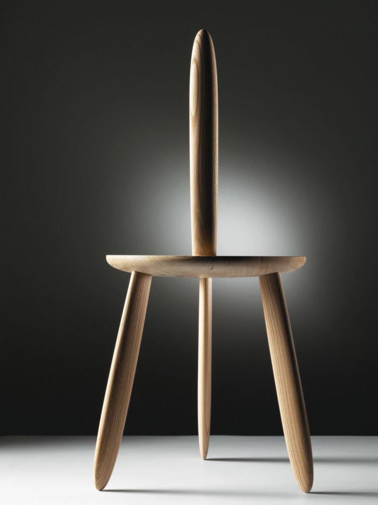3dwn1up four-legged elm stool by Aldo Bakker