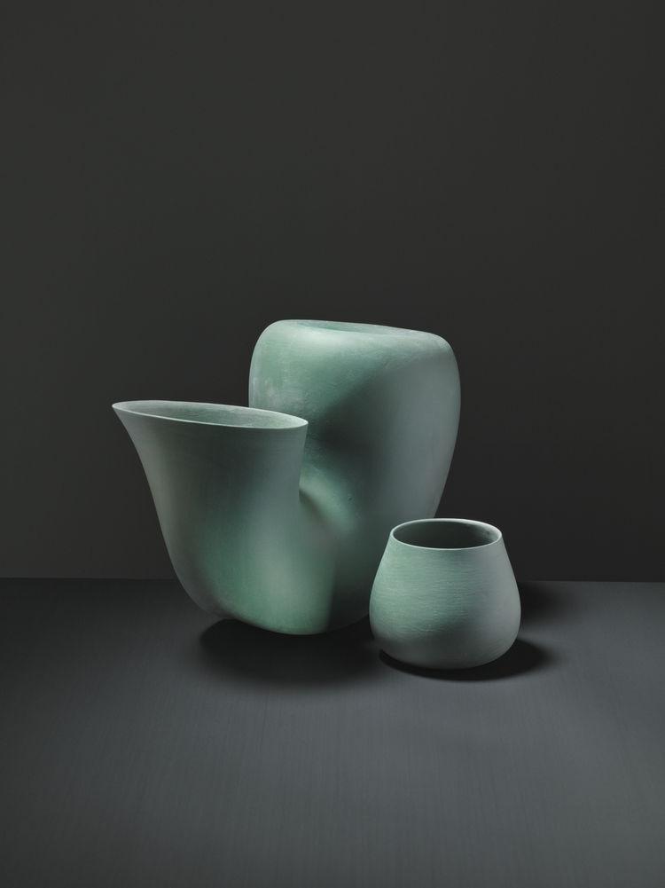sculptural green Jug water carafe by Aldo Bakker