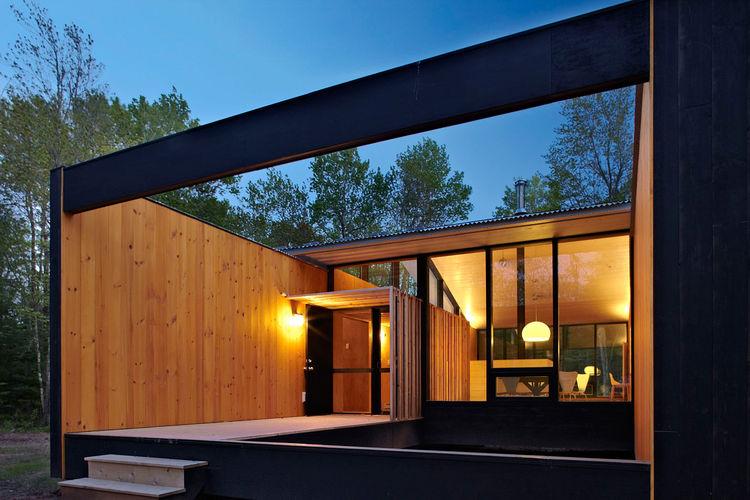 Modular house on Madeline Island, Wisconsin