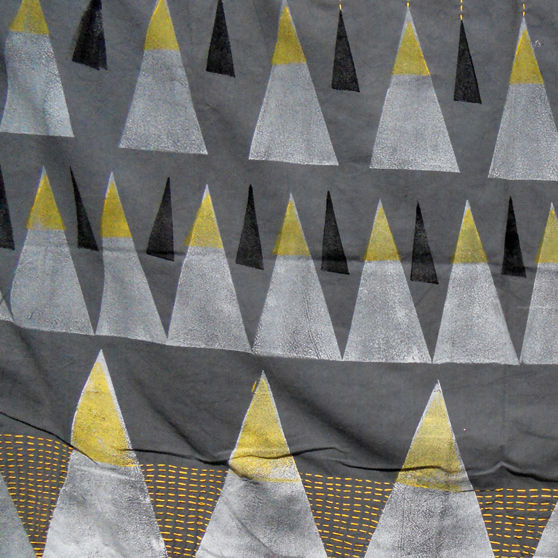 Maria João Arnaud's hand-printed Friendship Mountains textile