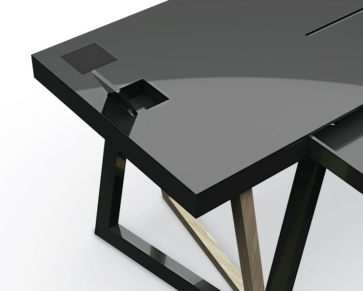geometrical compact desks