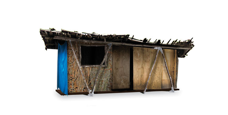 interchangeable disaster-relief house frame