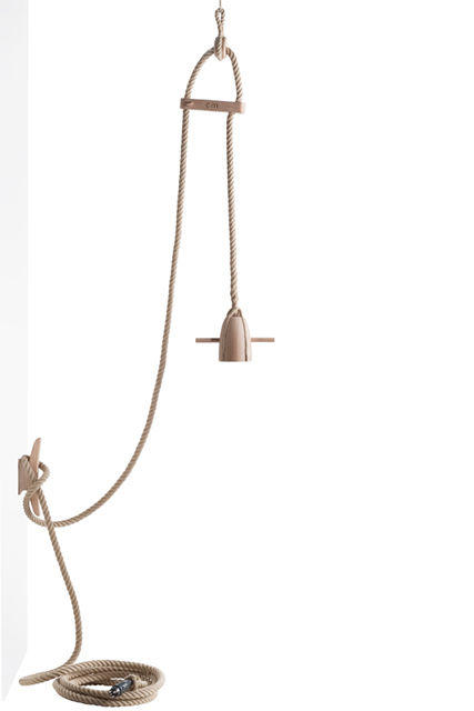 Flax lamp by Dutch designer Christien Meindertsma