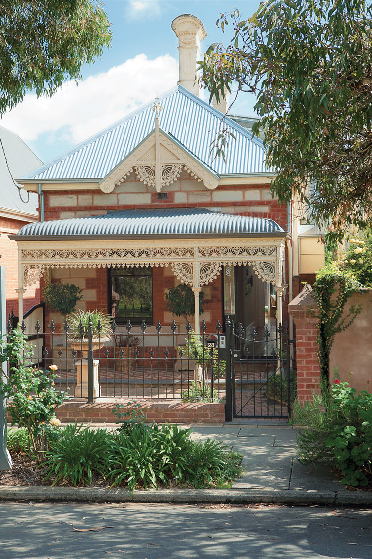 Traditional Victorian facade in Australia