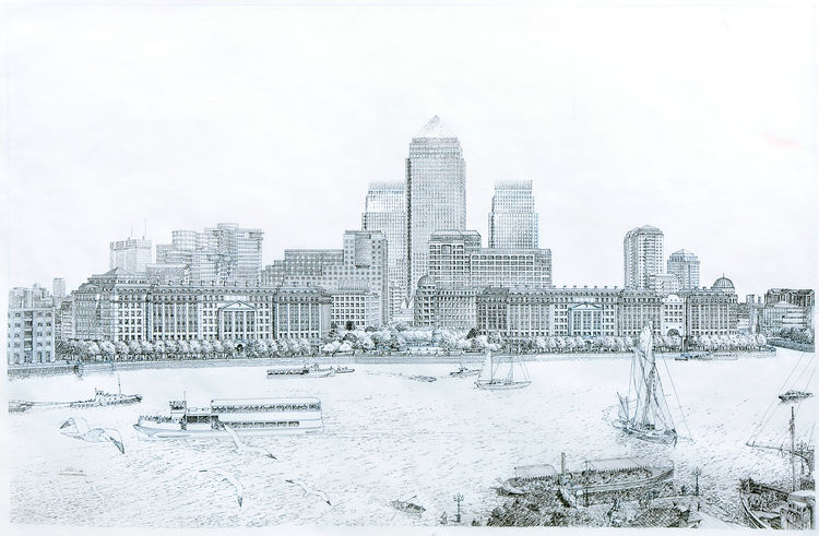 Canary Wharf sketch by Carlos Diniz