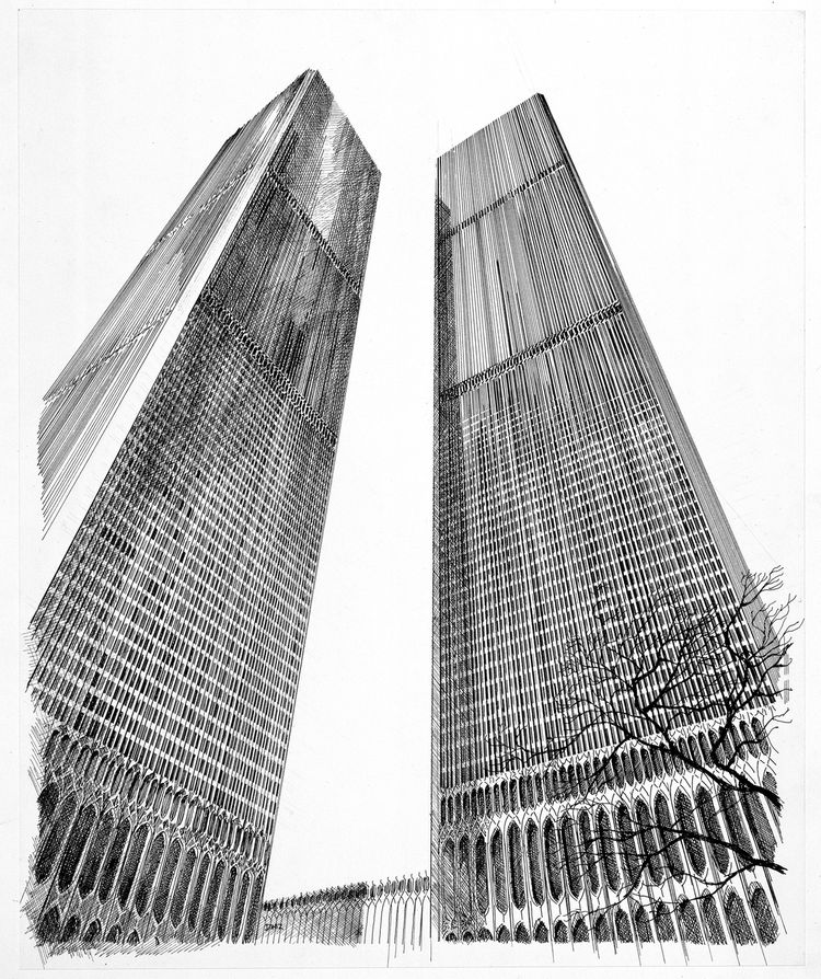 World Trade Center rendering by Carlos Diniz
