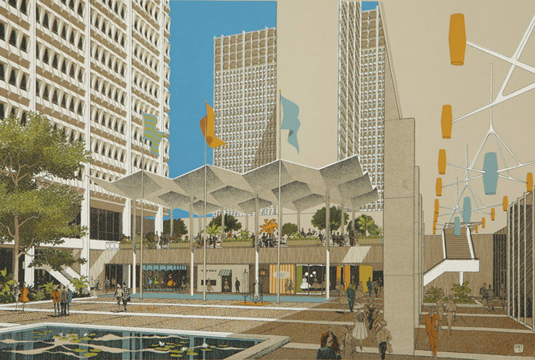 1961 Hollywood Suites rendering by Carlos Diniz