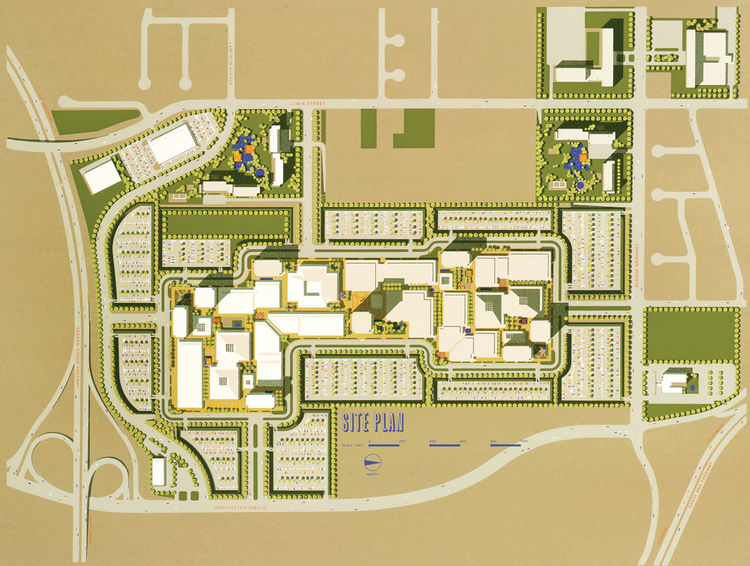 Orange County California site plan rendering by Carlos Diniz