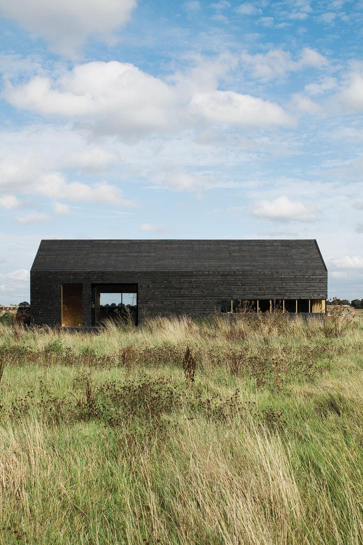 Outdoor view of modern farmhouse renovation