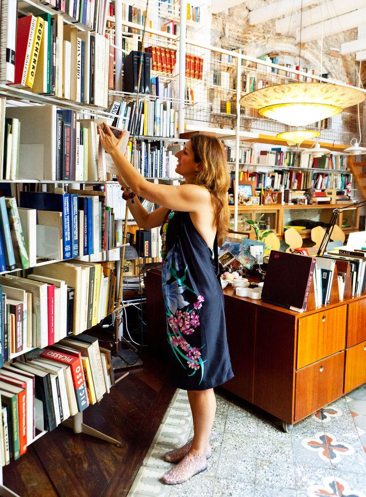 Italian architect Benedetta Tagliabue in her home office