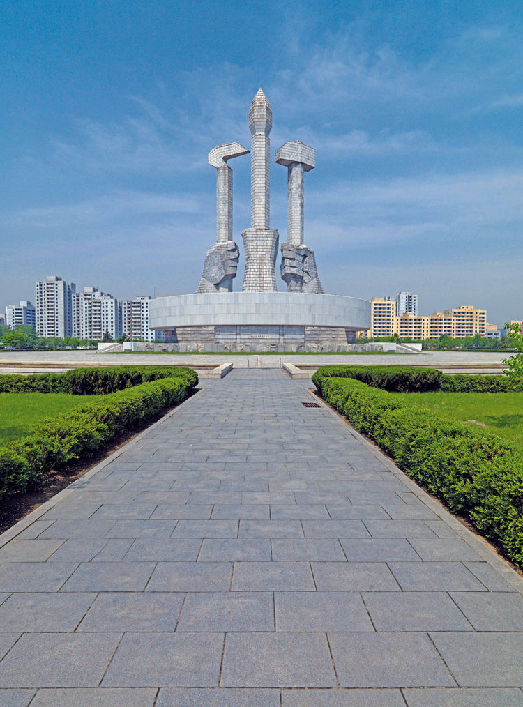 Party Foundation Monument in Pyongyang, North Korea
