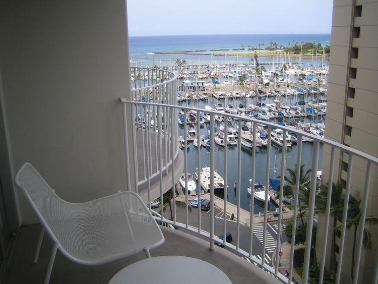 Modern Honolulu 12th Floor View of the Marina