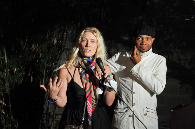Maranda Pleasant and DJ Spooky at SXSW Eco 2012