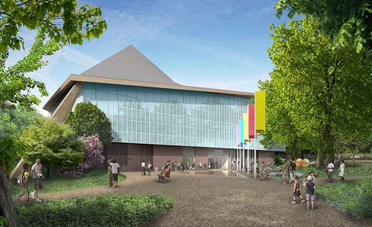 Exterior view of the new Design Museum by John Pawson Ltd.