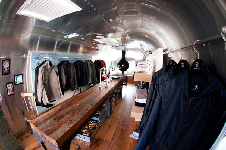 Retail Shop Inside Airstream Trailer