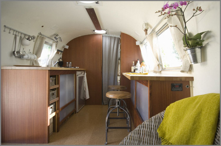 Modern Airstream Trailer Interior