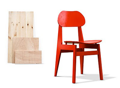 Modern red Kreuzberg chair by Le Van Bo