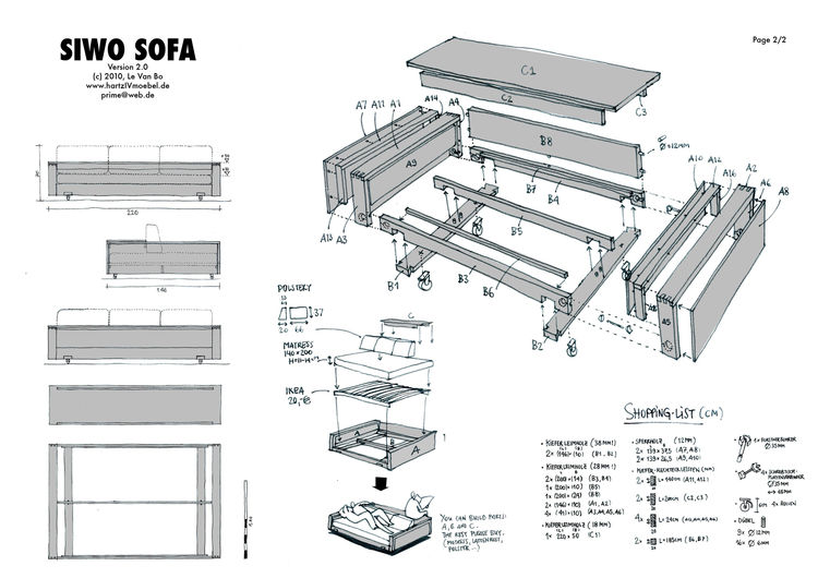 Sofa plan by Le Van Bo
