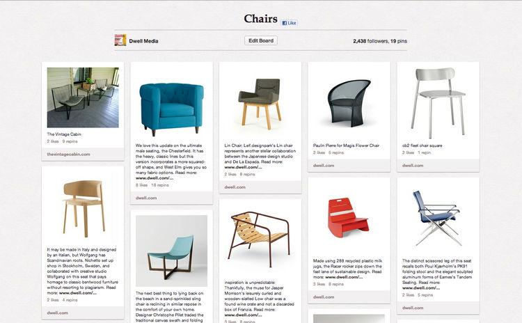 Dwell Chairs Pinterest Board
