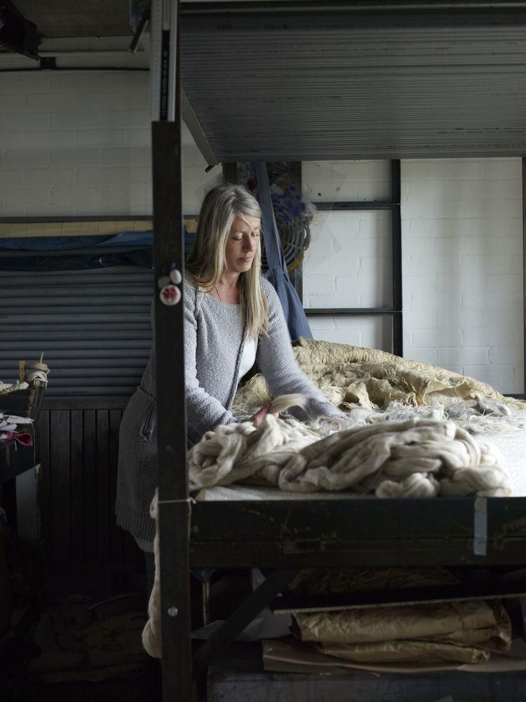 Dutch felt artist Paula Leen at home in Holland