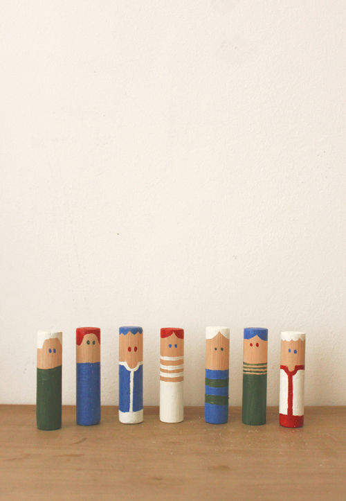 The Colours wooden figures by Renée Rossouw