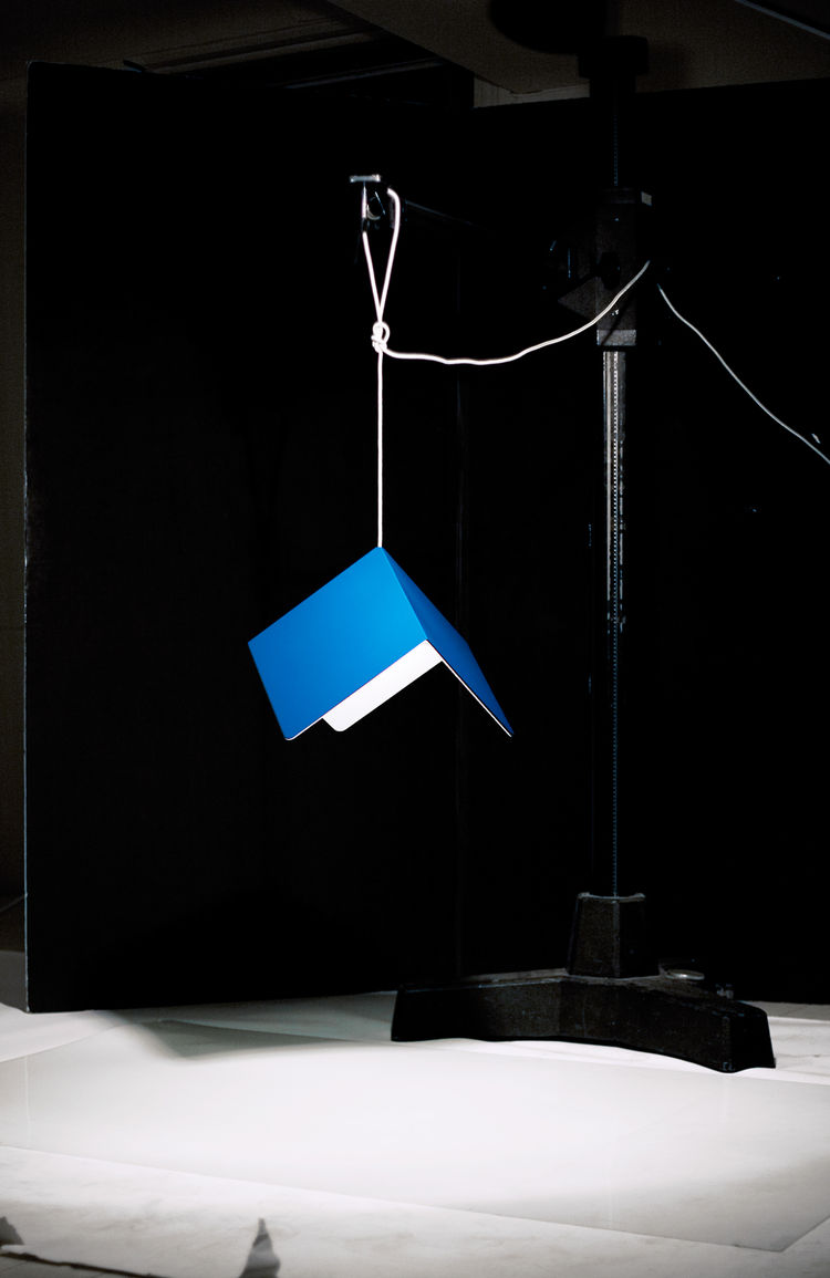 Lacquered aluminum pendant lamp by StokkeAustad