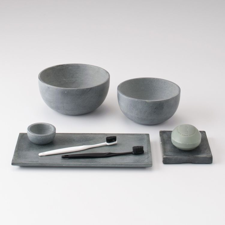 Hand-carved soapstone bowls and trays