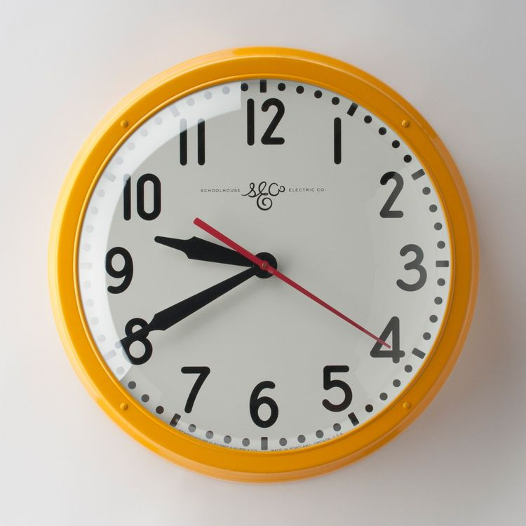 Old-school wall clock by Schoolhouse Electric