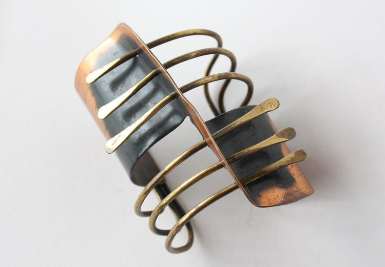 Modern brass cuff by Art Smith