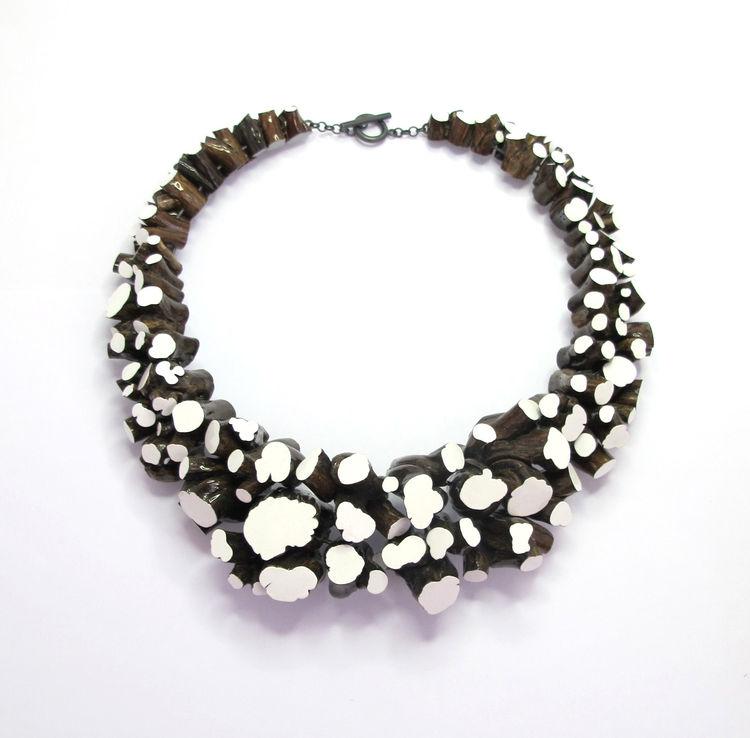 Modern necklace by Terhi Tolvanen