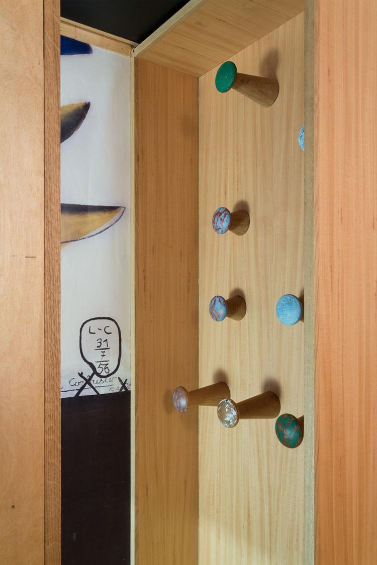 Le Corbusier Cabanon Interior Coat Hooks