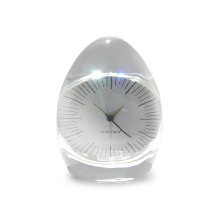 Dada Pressed Glass Clock by Artecnica