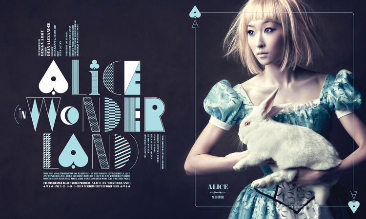 Alice in Wonderland Custom Typeface by Design Army