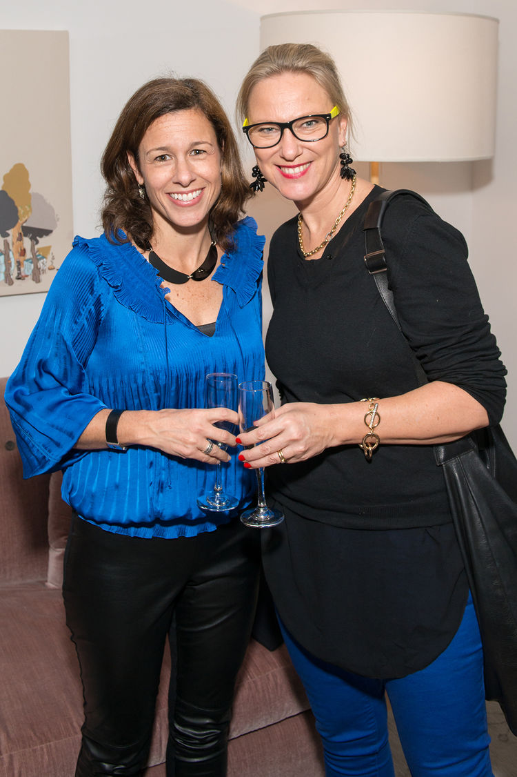 Nancy Allonzo and Ghislaine Vinas at Dwell and DDG event